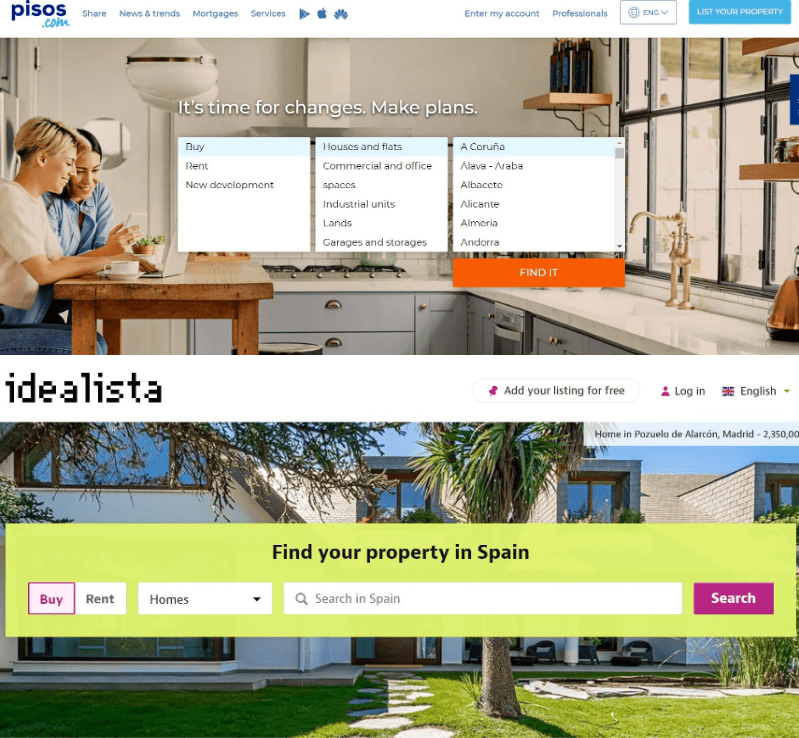 web sites for buying a flat in Barcelona